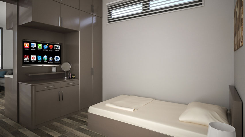 Bauhu smart care pod one bedroom
