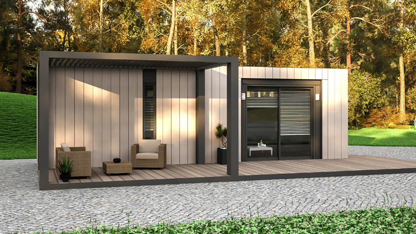 Bauhu smart care pod pergola options